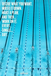 """Decide What You Want and Work For It Every Day"" Poster"