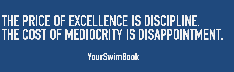 The Price of Excellence is Discipline
