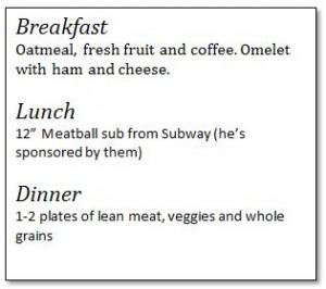 Michael Phelps Diet 2