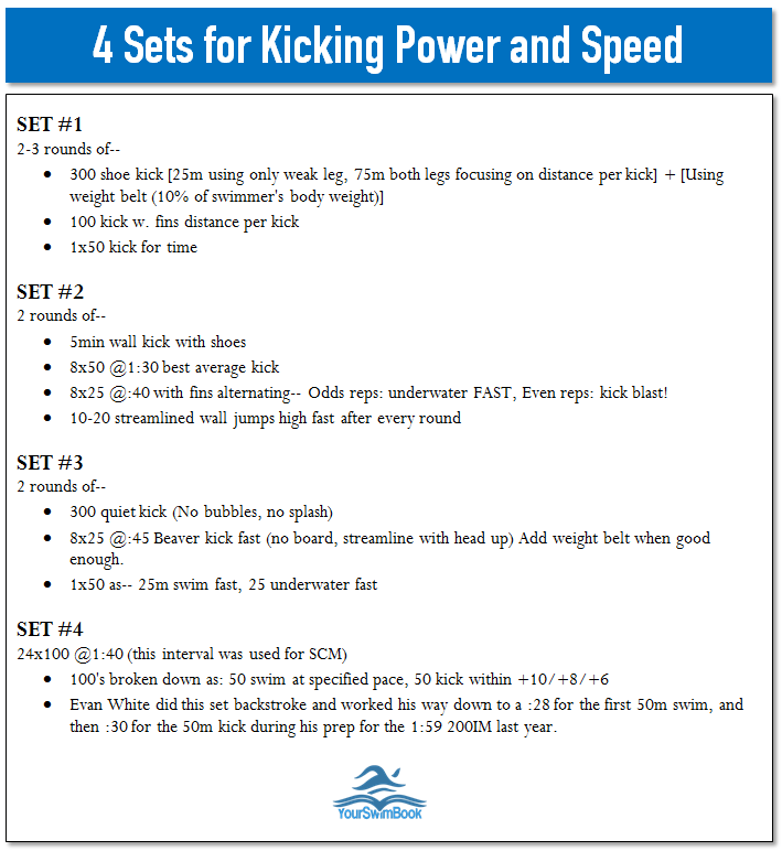 4 sets of kicking speed and power