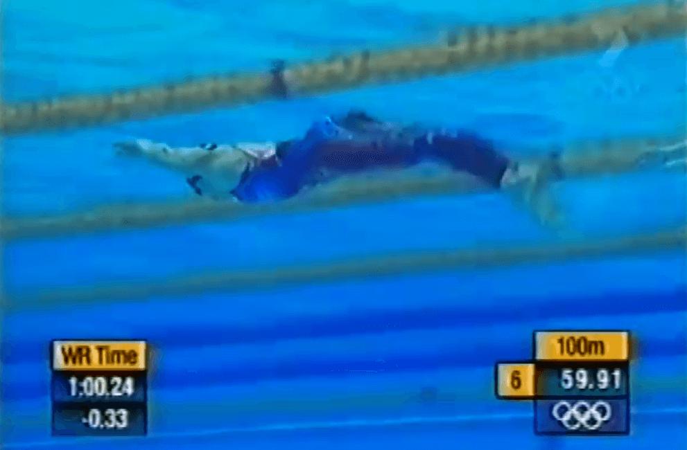 Misty hyman underwater dolphin kick