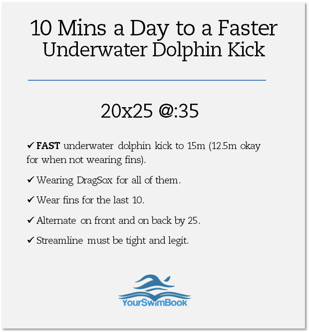 10 Minutes a Day to a Faster Underwater Dolphin Kick