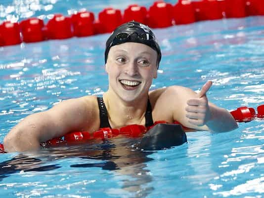 This Is How Fast Katie Ledecky Swims in Practice