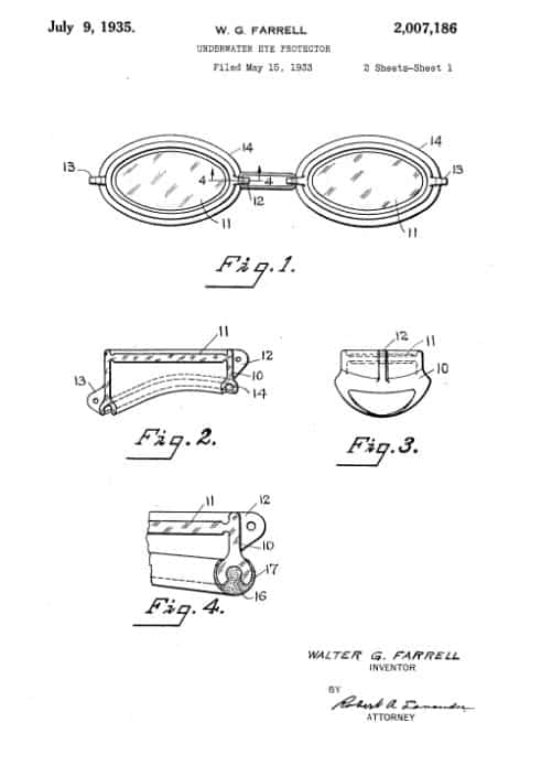 The History of Swim Goggles