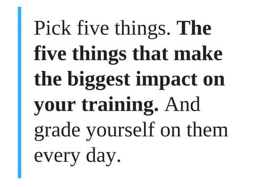 Pick five things