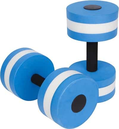 Trademark Innovations Water Dumbbells - Best water exercise equipment