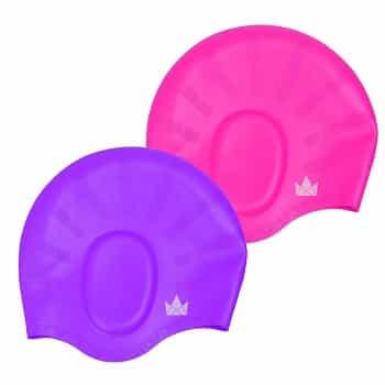Friendly Swede Long Hair Swim Cap 2 pack