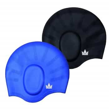 Friendly Swede Long Hair Swim Cap black blue-min