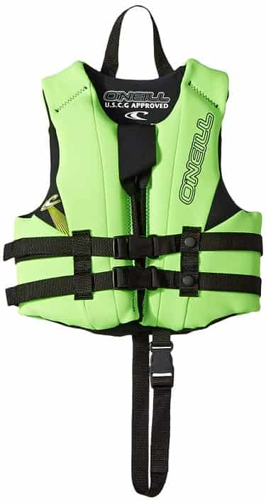 O'Neill Reactor Child Life Jacket Green