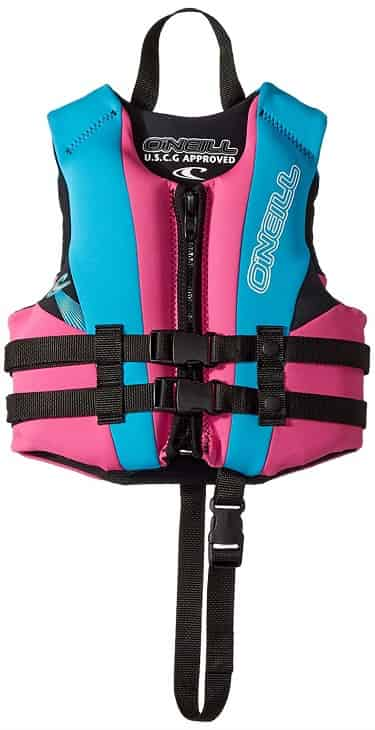 O'Neill Reactor Child Life Jacket Pink