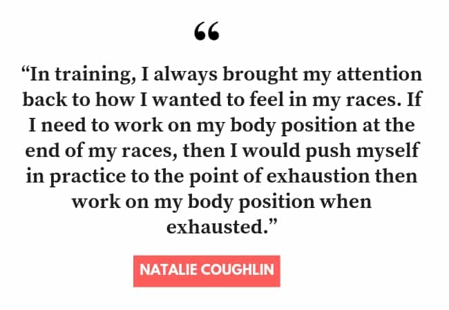 Natalie Coughlin on Being a More Focused Swimmer