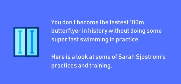 Sarah Sjostrom Swim Training