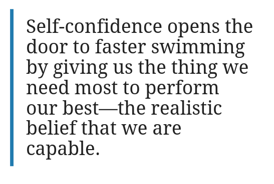 Different Kinds of Confidence That Swimmers Experience