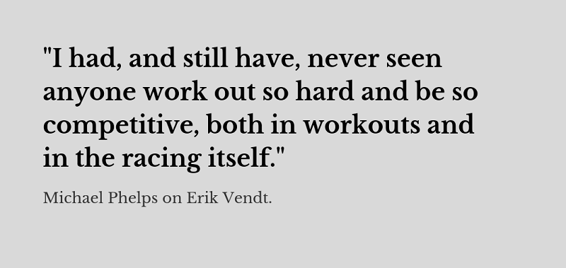 Erik Vendt Swimming