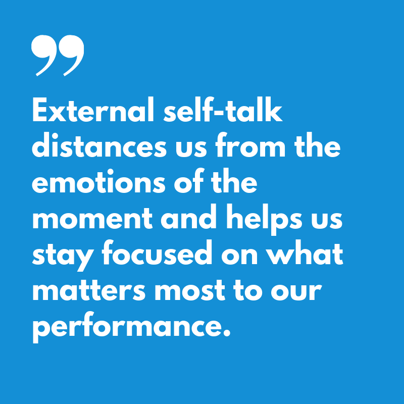 External Self-Talk for Swimmers