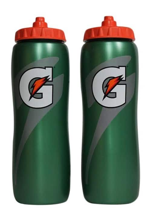 Swim bag essentials - Gatorade water bottle