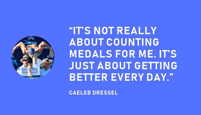 Caeleb Dressel motivational quote