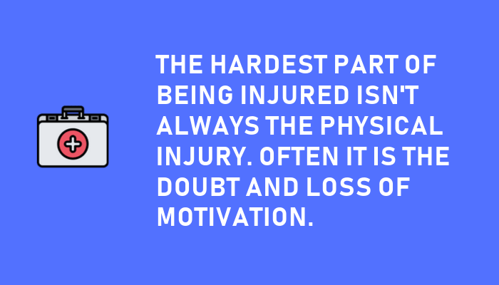 Motivation for swimmers - injury