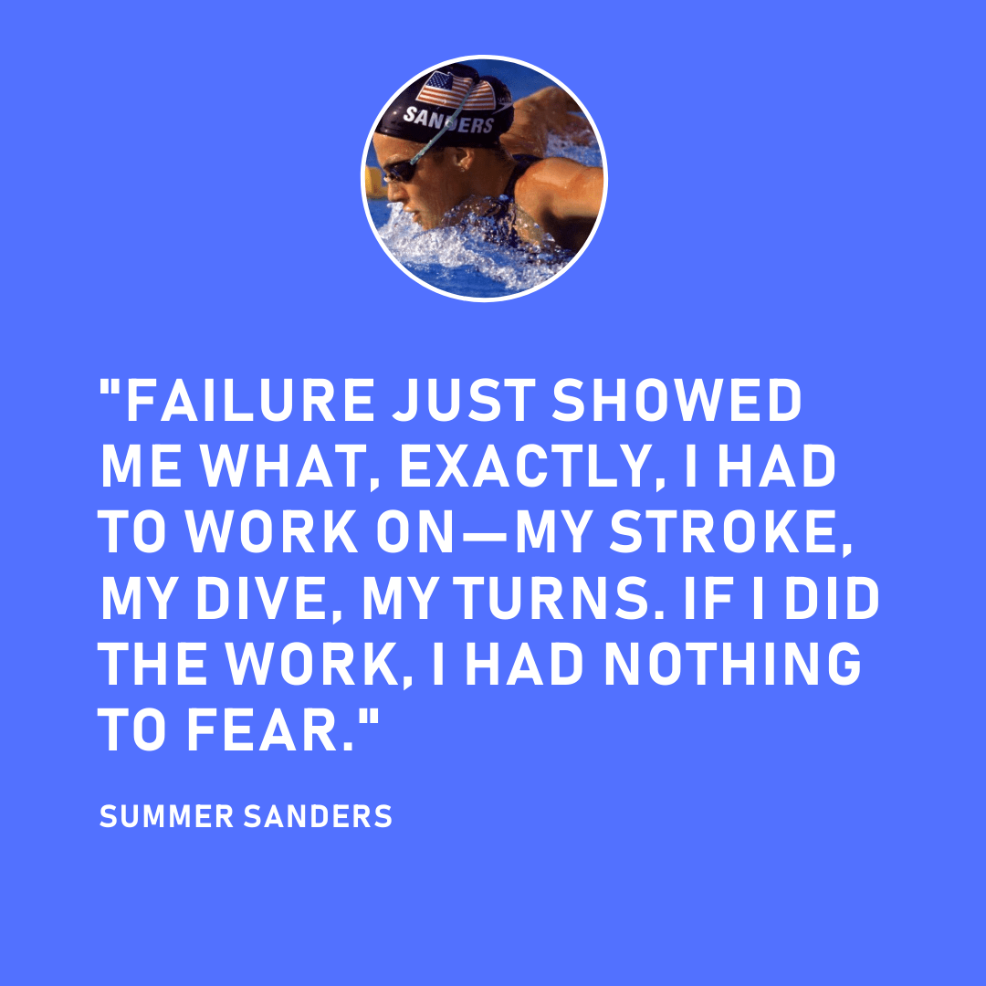 Summer Sanders Swimmer Motivational Quote
