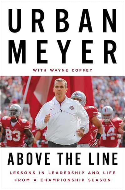 Books for Swim Coaches -- Above the Line by Urban Meyer