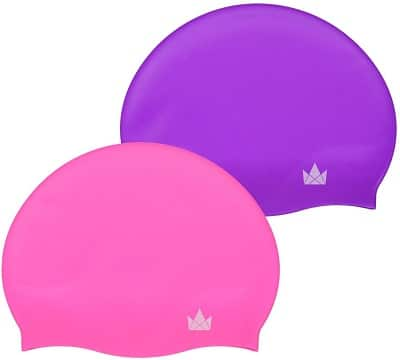 Friendly Swede 2-Pack Swim Caps for Kids