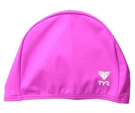 TYR Lycra Swim Cap for Children Pink