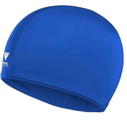 TYR Lycra Swim Cap for Children Blue