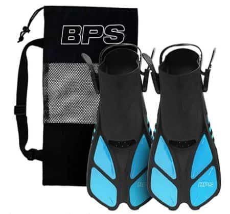 BPS Short-Blade Snorkeling Fins