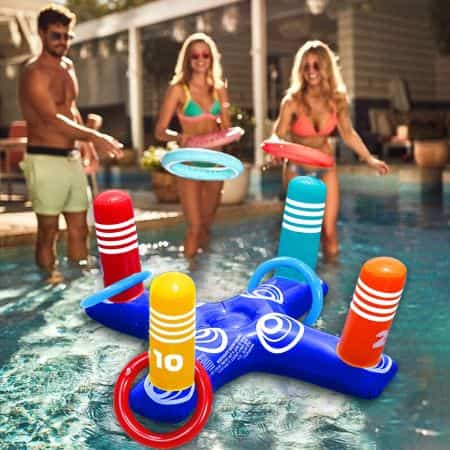 Best Games for Swimming Pool - Inflatable Ring Toss