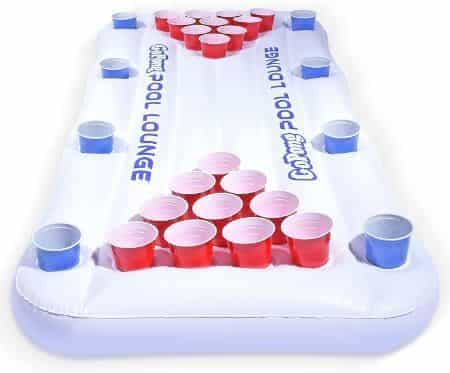 Best Swimming Pool Games -- GoPong Beer Pong Inflatable