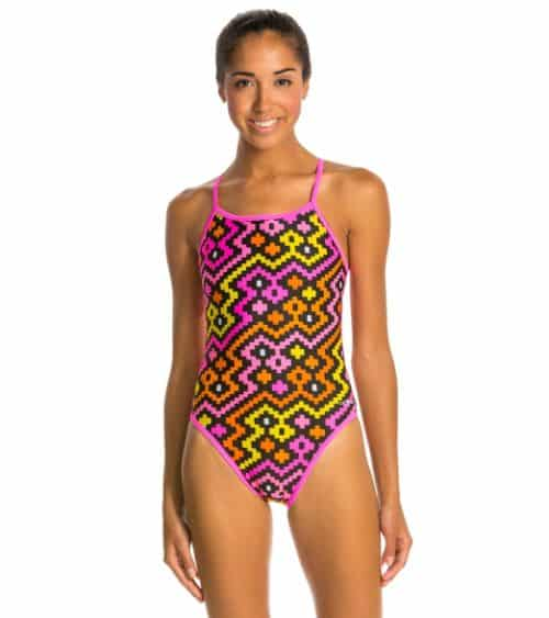Cheap Swimsuits - Dolfin Alero Reversible String Back One-Piece Swimsuit