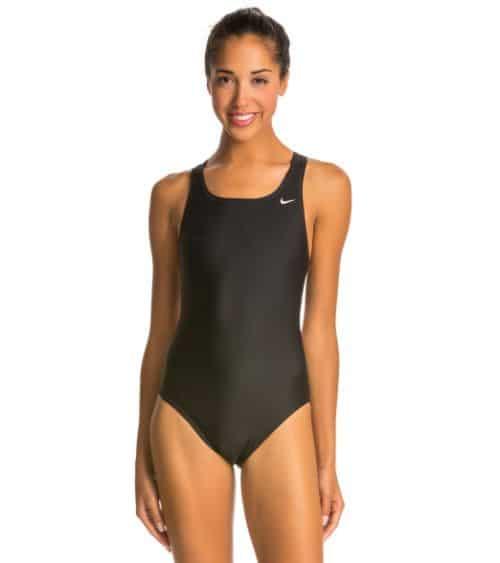 Nike Swim Nylon Core Solids Fast Back Swimsuit