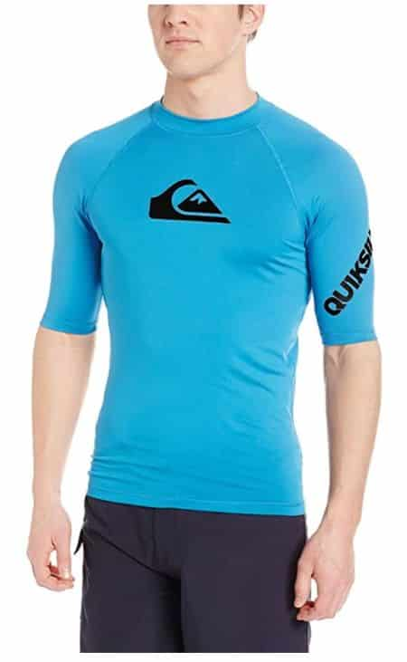 Quiksilver All-Time Short Sleeve Rashguard and Swim Shirt