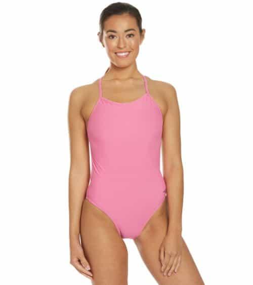 Speedo Turnz Women's Solid One-Piece Swimsuit - Cheap Swimsuits
