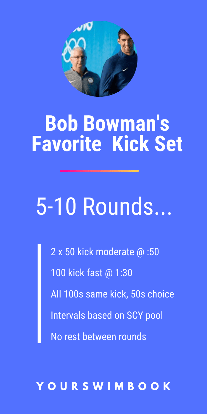 Bob Bowman's Favorite Kick for Improving Swim Speed