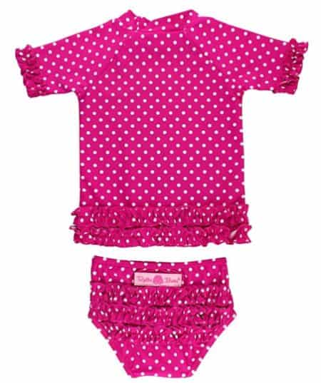 RuffleButts Baby Rash Guard and Swimsuit for Girls