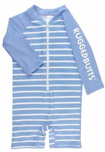 RuggedButts Striped One-Piece Swimsuit for Toddlers