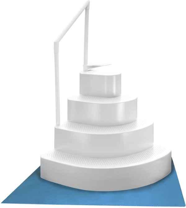 Blue Wave Wedding Cake Pool Step Ladder