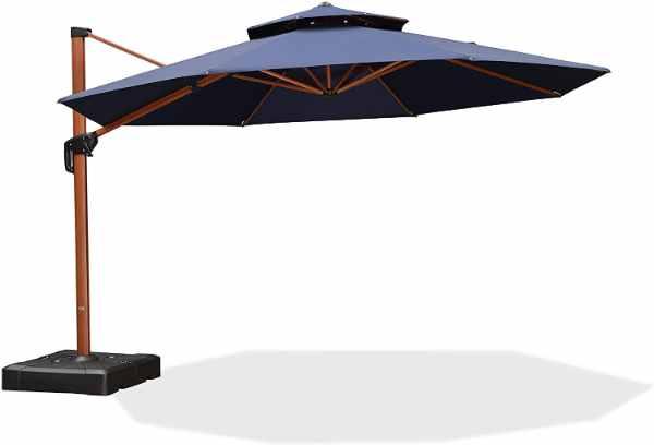 Purple Leaf 13 Foot Pool and Patio Umbrella